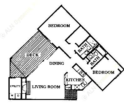 1,289 sq. ft. B3 floor plan