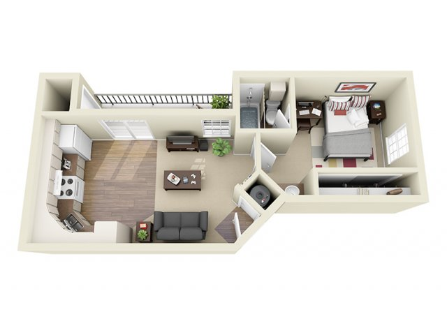 440 sq. ft. FC floor plan