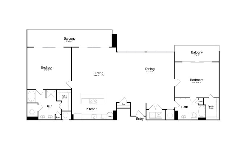 2,213 sq. ft. PH4 floor plan