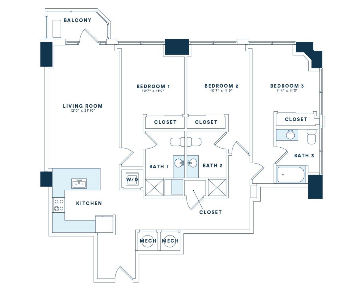 1,481 sq. ft. C4 floor plan