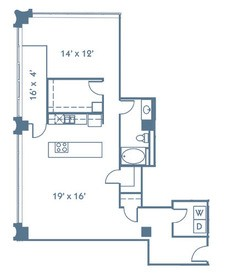 1,182 sq. ft. A15 floor plan