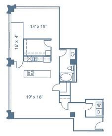 1,182 sq. ft. A15 floor plan