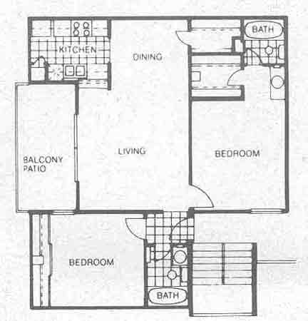 903 sq. ft. B2 floor plan