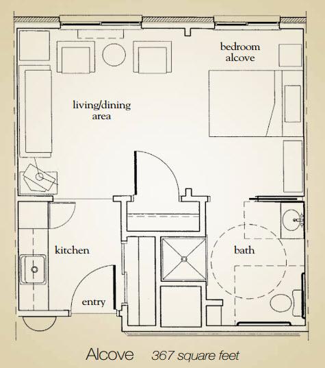 367 sq. ft. floor plan