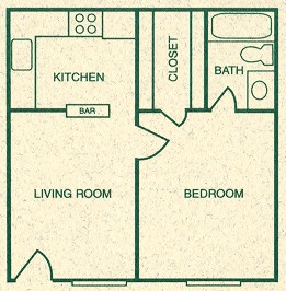 475 sq. ft. A floor plan
