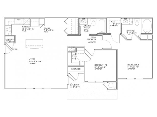 1,049 sq. ft. Sabana-60% floor plan
