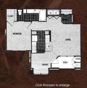 750 sq. ft. A1/60 floor plan