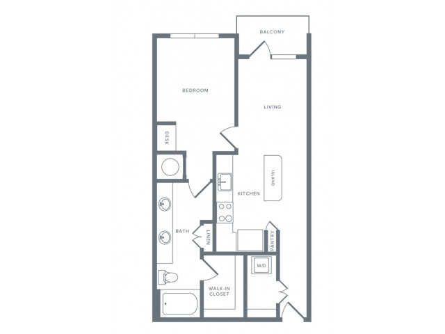 703 sq. ft. A5 floor plan