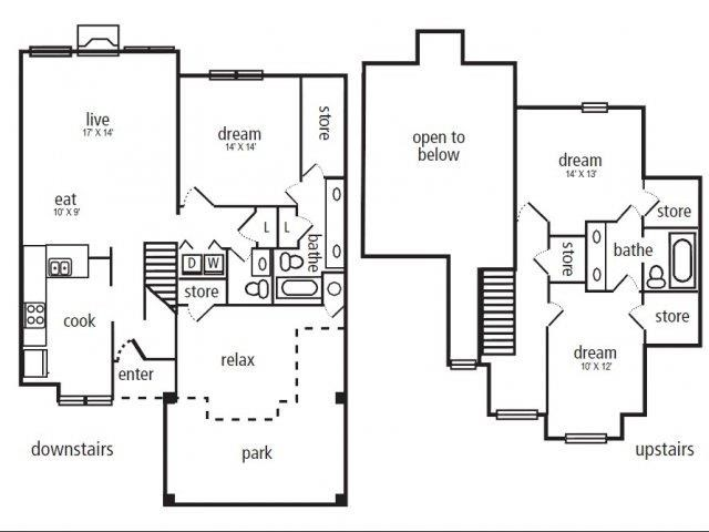 1,577 sq. ft. C-1 floor plan