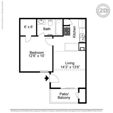 511 sq. ft. floor plan
