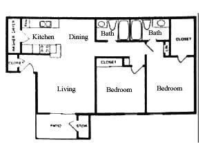 920 sq. ft. D floor plan