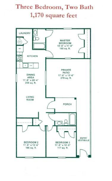 1,170 sq. ft. 50 floor plan