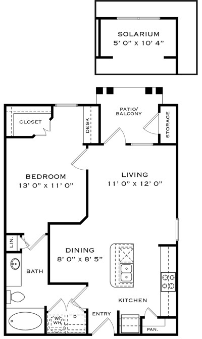 737 sq. ft. A1C floor plan