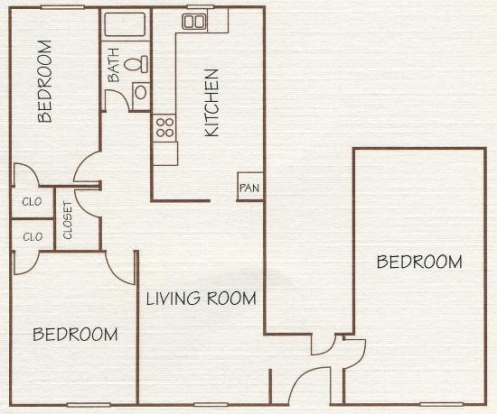 1,125 sq. ft. floor plan