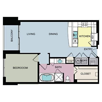 994 sq. ft. C floor plan