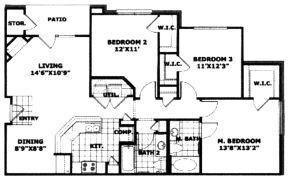 1,248 sq. ft. 60 floor plan