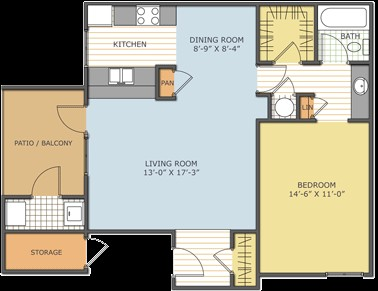 716 sq. ft. CORPUS CHRISTI floor plan