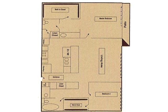 792 sq. ft. floor plan