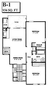 856 sq. ft. B1 floor plan