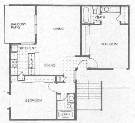 935 sq. ft. B3 floor plan