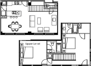 1,460 sq. ft. floor plan