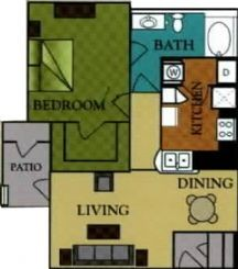 750 sq. ft. Sterling/60 floor plan