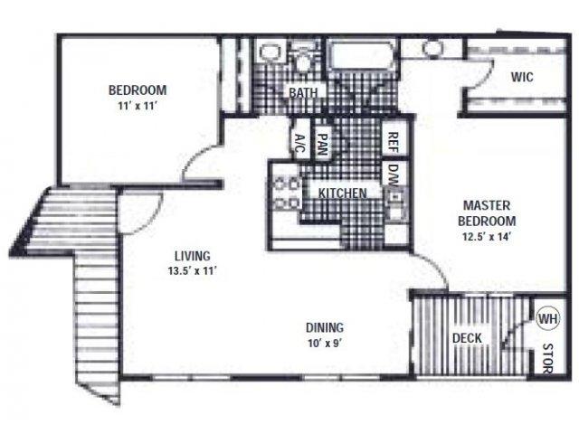 837 sq. ft. C floor plan