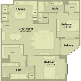1,698 sq. ft. E1 floor plan