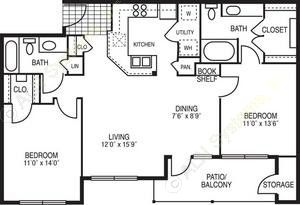 1,151 sq. ft. Allegro floor plan