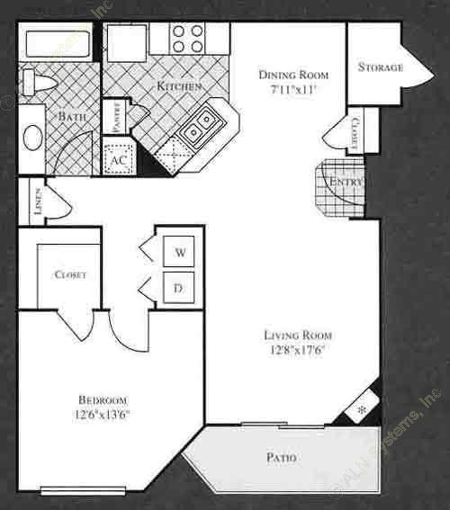 769 sq. ft. MARIGOLD floor plan