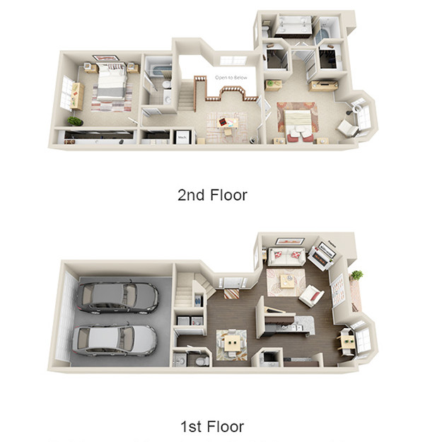 1,633 sq. ft. B1 floor plan