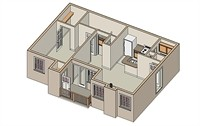 742 sq. ft. Pompano/Mkt floor plan