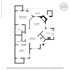 1,029 sq. ft. C4A floor plan