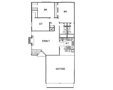 1,221 sq. ft. to 1,371 sq. ft. NEW PATIO floor plan