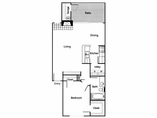 825 sq. ft. Blanco floor plan