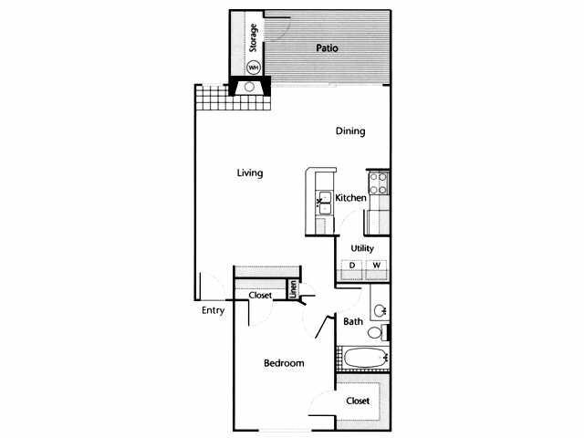 825 sq. ft. Blanco floor plan