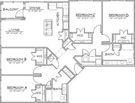 1,580 sq. ft. floor plan