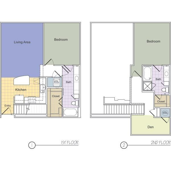 1,260 sq. ft. to 1,381 sq. ft. LaGuardia (B2G) floor plan