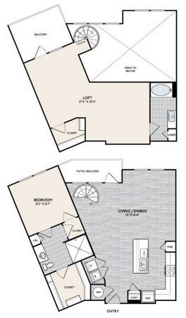 1,516 sq. ft. A11 floor plan