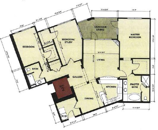 1,855 sq. ft. Cypress floor plan