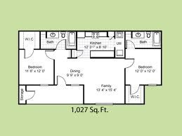 1,027 sq. ft. El Camino Real floor plan