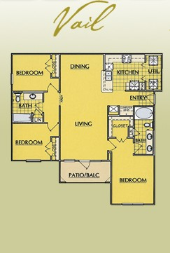 1,311 sq. ft. C1 floor plan