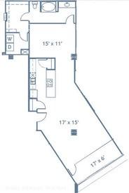 1,142 sq. ft. A13 floor plan