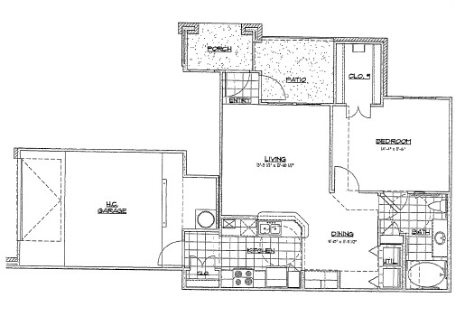 773 sq. ft. B3/60% floor plan