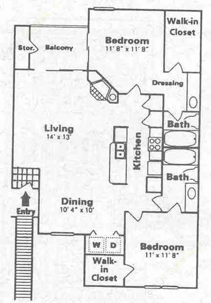 1,000 sq. ft. G floor plan