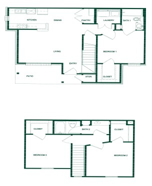 1,195 sq. ft. 50 floor plan