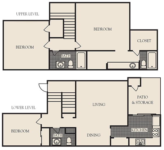 1,500 sq. ft. B4 floor plan