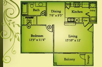 761 sq. ft. A1/60 floor plan