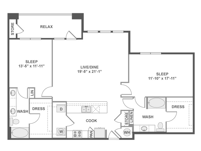 1,415 sq. ft. C8 floor plan