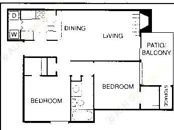838 sq. ft. D floor plan